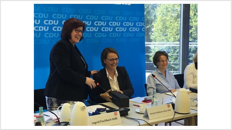 Ingrid Fischbach, Annette Widmann-Mauz und Ina Scharrenbach